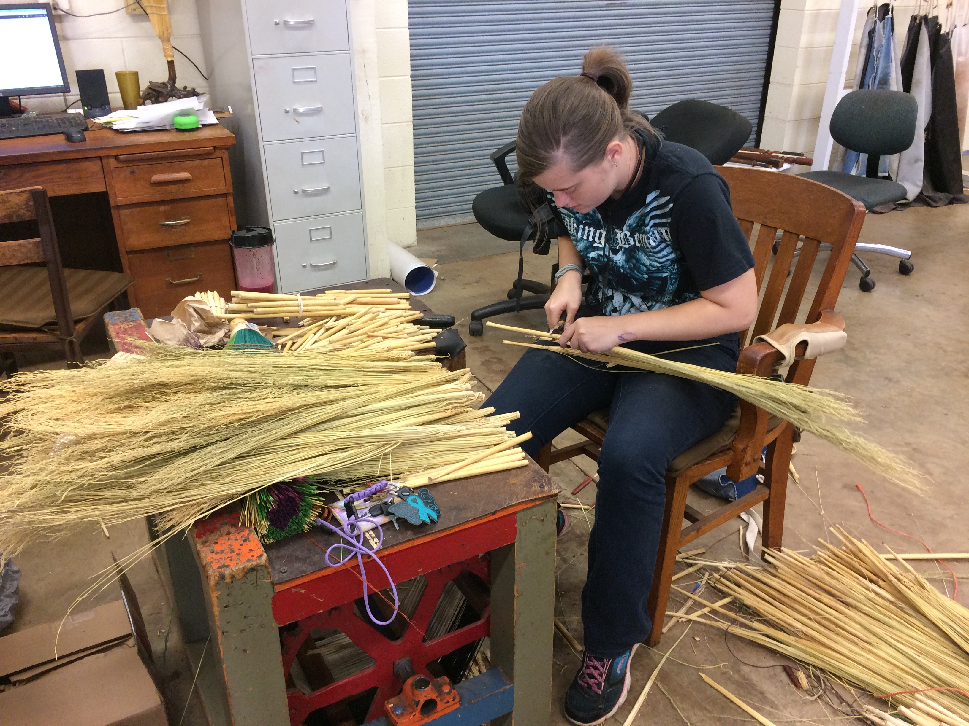 Berea requires students to work at least 10 hours per week on campus. Among the more unique programs is the school's broom studio, which sells its products around campus and online.
