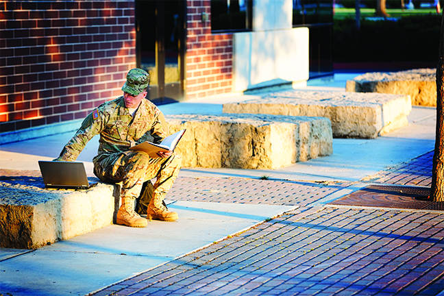 Showing we care by reducing barriers and creating opportunities helps our veteran students achieve success in the classroom as well as in civilian life. (gettyimages.com:MivPiv)