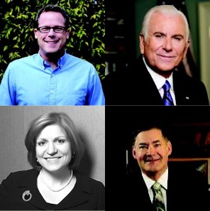 The UBTech 2019 keynotes (pictured, clockwise from top left) are: AV visionary Gary Kayye, High Point University President Nido Qubein, University of Alabama at Birmingham CIO Curtis Carver and New York Institute of Technology Vice President Nada Marie Anid.