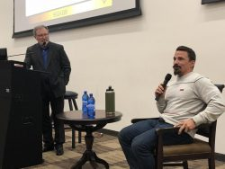 Former Navy SEAL and professional CrossFit athlete Josh Bridges recently discussed perseverance with student-athletes at the University of Wyoming.