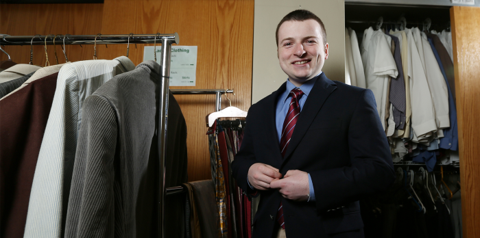 SUITABLE SERVICE—Missouri University of Science & Technology has a closet packed with men's and women's suits and accessories available for free rental. Staff can serve as stylists.