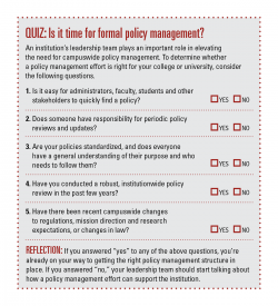 Policy management quiz: Click to enlarge