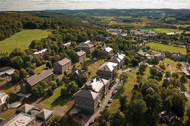 Higher ed procurement options are usually more difficult for rural institutions such as Colgate University in New York because of supplier delivery challenges. UB's guide to procurement can help similar colleges.