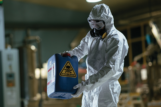Hazardous waste management and accident prevention involves training, emergency preparation and knowledge of the substances being used.