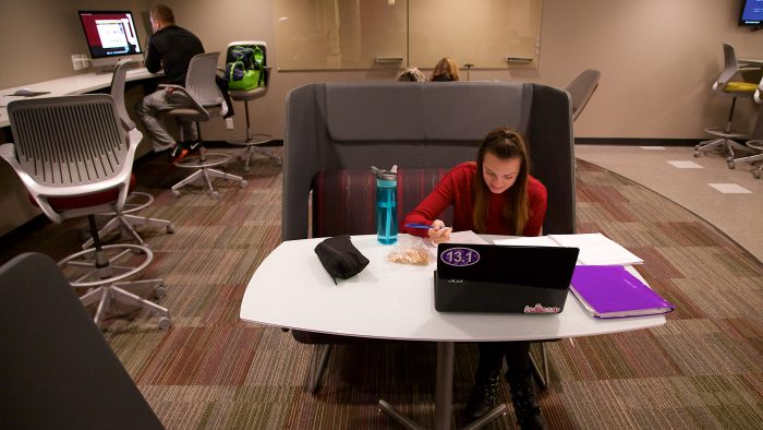 Indiana University's informal learnings spaces allow students to participate in a range of activities.