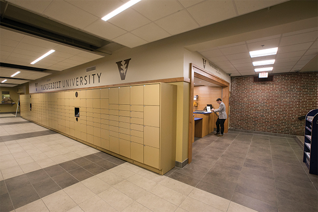 Students at Vanderbilt University need not worry about making a stop during office hours for package pickup. As per the university mailroom guidelines, physical mail slots were replaced by a wall of intelligent parcel lockers, and students simply enter an access code to retrieve a delivery.