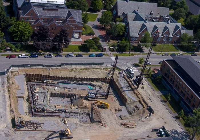 Under construction: Bonney Science Center, Bates College, Maine