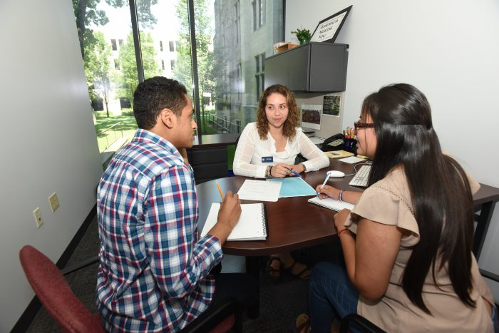 Success support—Peer advisors at Dominican University in Illinois help students transition to university life and develop new ways to succeed in college.