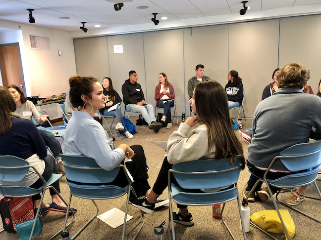 "Principal members of all student organizations at UC San Diego—sororities and fraternities, volunteer clubs, and other groups—are required to take a civility training course called ""The Art of Inclusive Communication."" (Photo: UC San Diego Center for Student Involvement)"