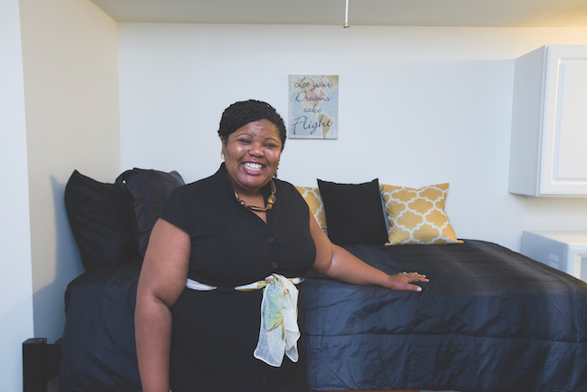 Marcy Stidum is coordinator of Kennesaw State University's Campus, Awareness, Resource and Empowerment Center, which opened an emergency apartment to house homeless students in 2016.