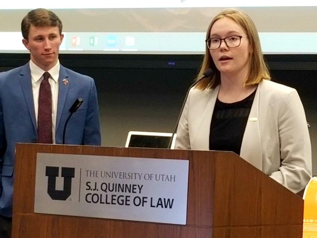 Kaitlin McLean, now a medical student at the University of Utah, was the driving force in getting faculty to include a safety statement on every class syllabus.