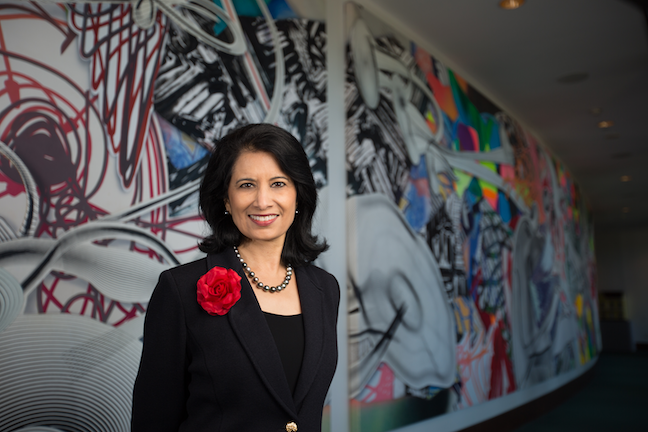 University of Houston President Renu Khator, who spoke little English when she came to the U.S. as a graduate student in the early 1970s, has reversed low retention and graduation rates, as well as substantially boosted fundraising.