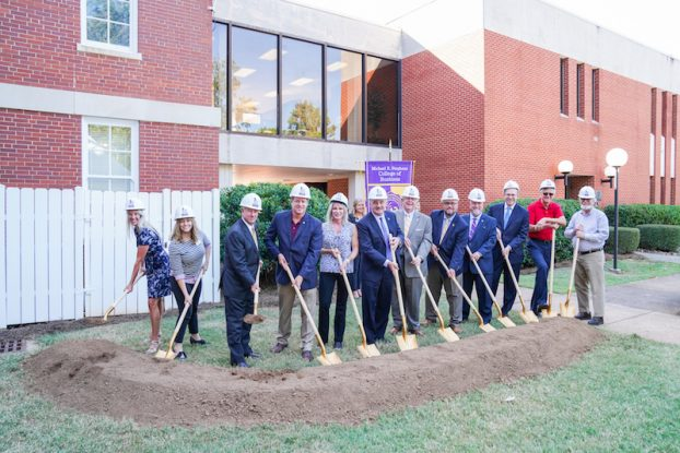 The Michael E. Stephens College of Business building project gets underway.