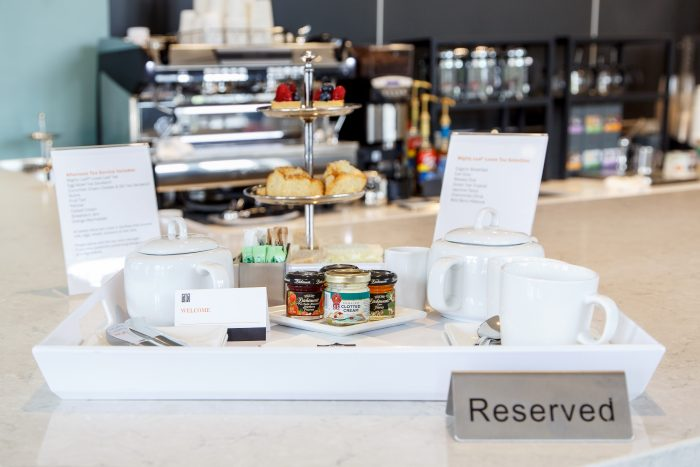 Tea time—Afternoon tea service at Princeton University Library launched this year, for $15 per person and by reservation only on Tuesdays and Thursdays. Photo: Shelley Szwast, Princeton University Library