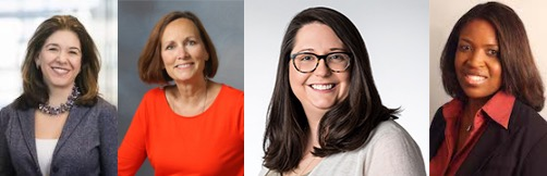 Andrea Schneider (far left), Jean Grow, Jennica Webster and Sasha Parsons Waters are running the Institute for Women's Leadership at Marquette University.