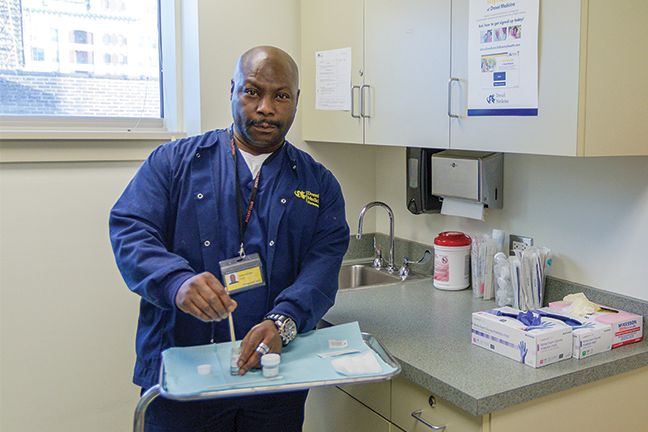 Drexel University partnered with West Philadelphia Skills Initiative to train local residents to be medical assistants.
