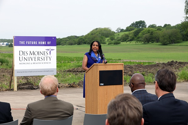Des Moines University President Angela Walker Franklin announced in June that the university will build a new campus in West Des Moines.