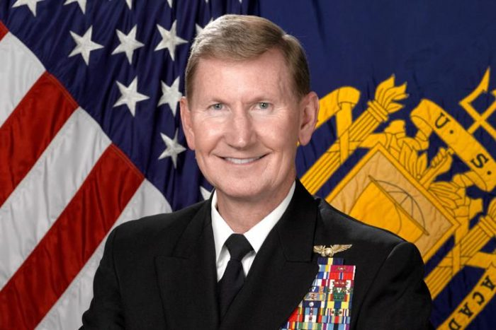 """Walter """"Ted"""" Carter Jr., superintendent of the U.S. Naval Academy, is the priority candidate for University of Nebraska system president."""
