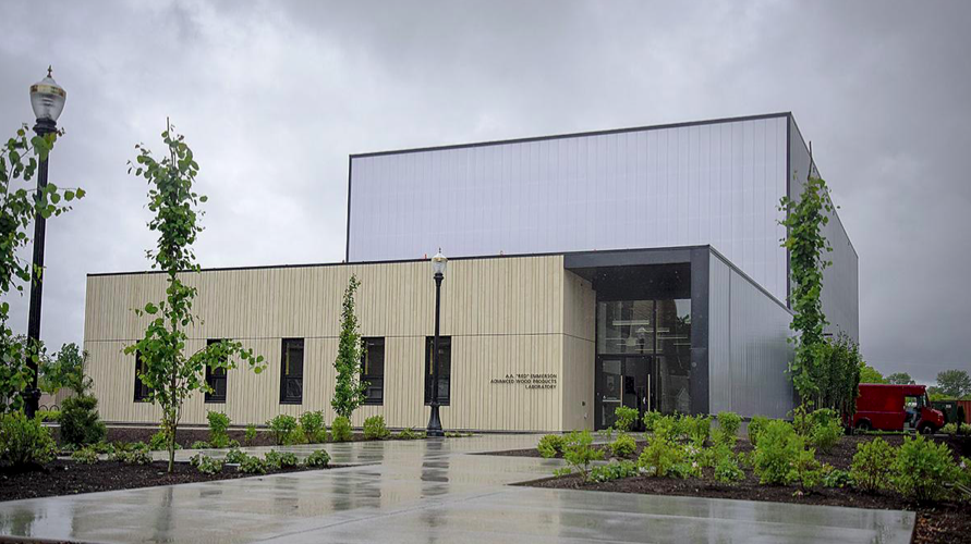 """The 17,500-square-foot A.A. """"Red"""" Emmerson Advanced Wood Products Laboratory has opened at Oregon State University."""