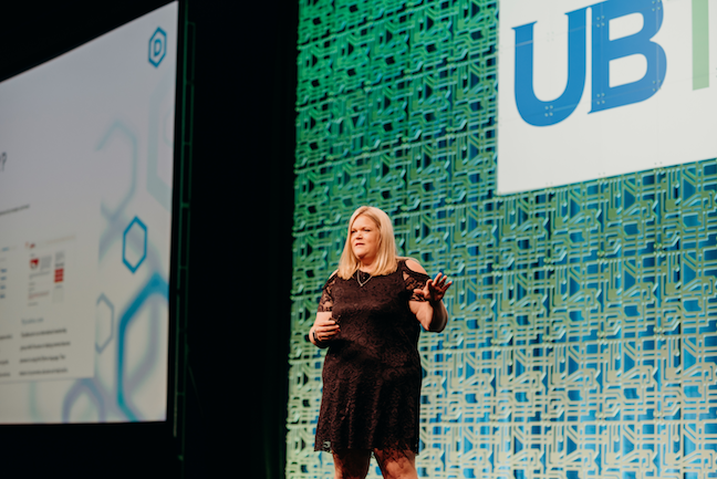 At the UB Tech®2019 conference's Women in Technology summit, Ashley Podhradsky, associate professor of information assurance and forensics and associate dean at Dakota State University, detailed how the CybHER @ DSU program she co-founded encourages girls and young women to pursue studies and careers in cyber sciences.