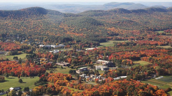 A COLORFUL FUTURE?—Hampshire College officials, with renewed support and a plan for reinventing its education model, is looking to become a success story for how struggling schools can turn things around.