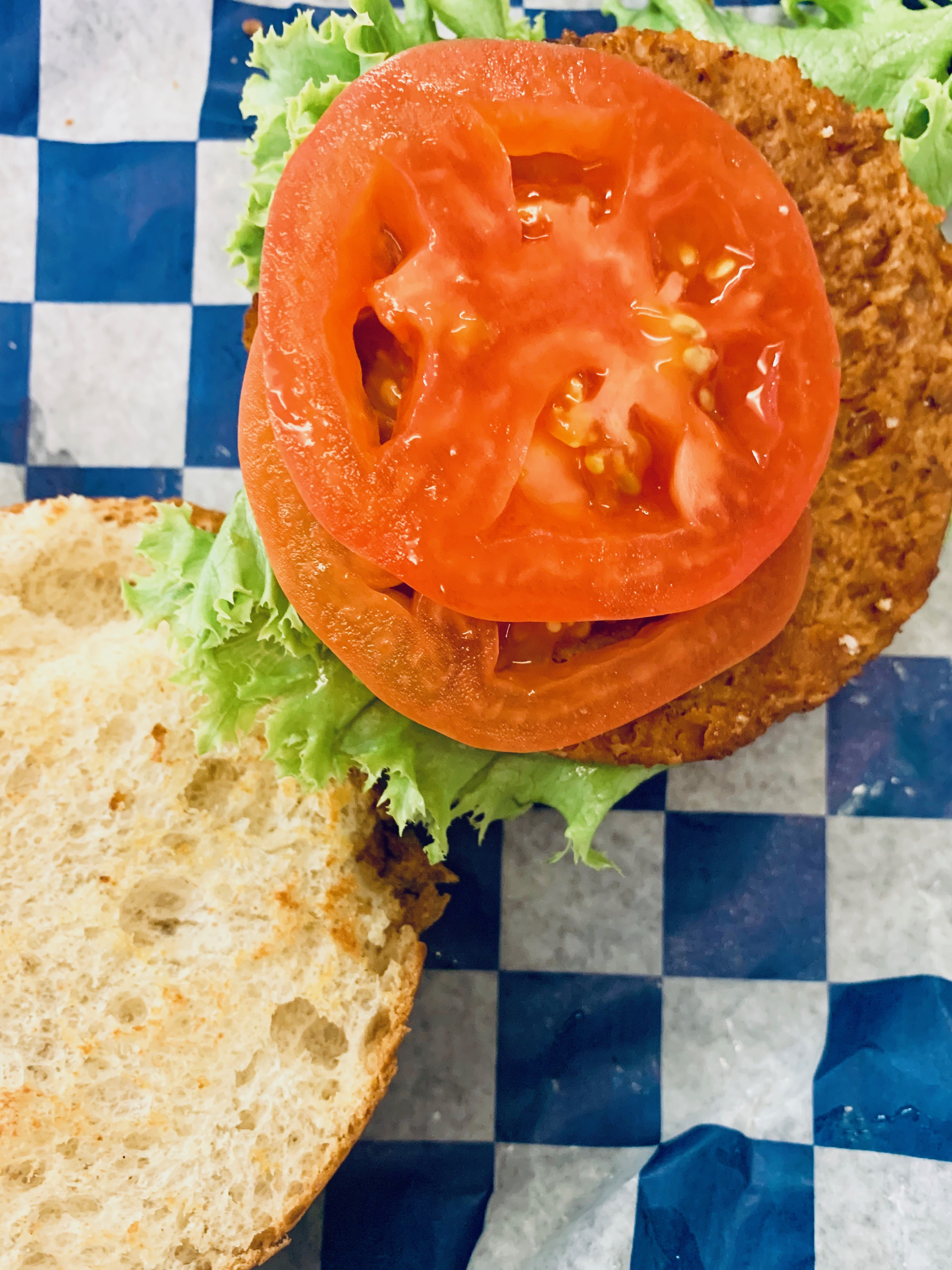 Plant-based burgers and other protein alternatives are making a more frequent appearance on campus dining hall menus. Photo: Yale University