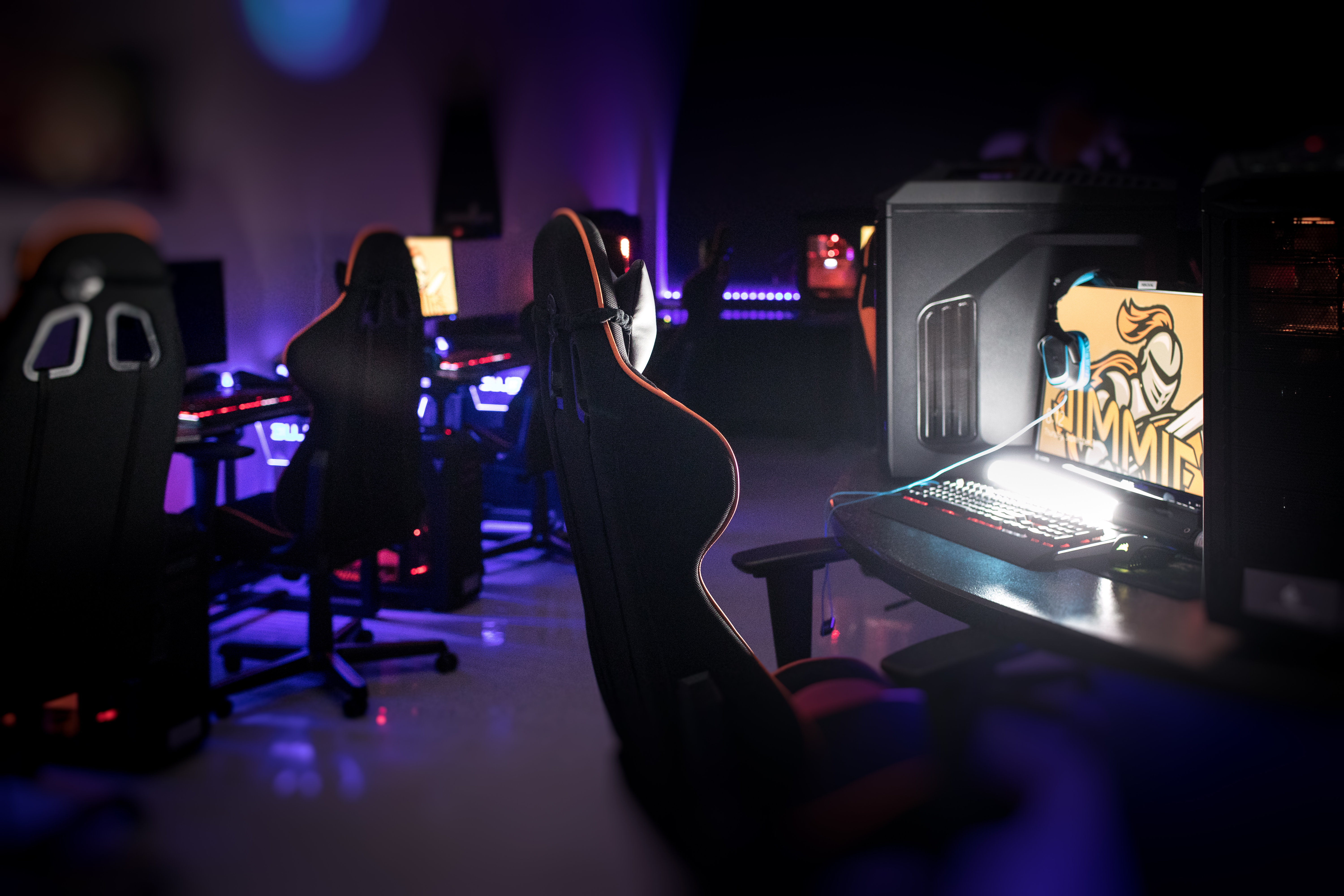 The esports program at the University of Jamestown in North Dakota took over a facility that had been used by the university's defunct TV and radio stations.