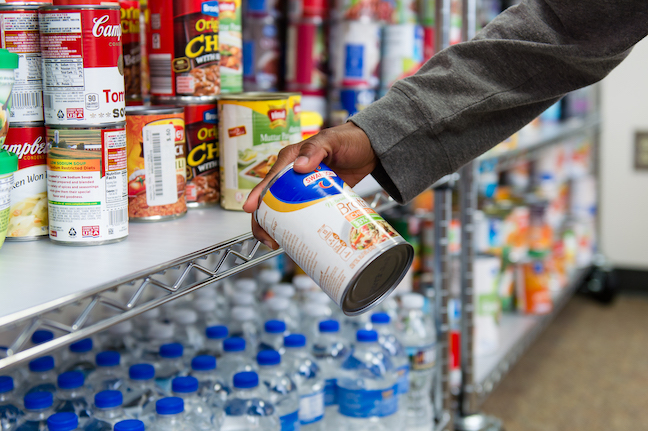 Colleges and universities are fighting hunger on campus by opening food pantries, such as this one at Kennesaw State University in Georgia.