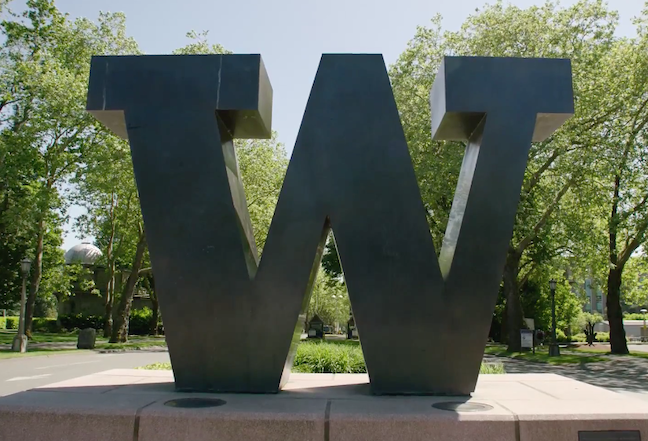 Classrooms at the University of Washington will be closed at least until the beginning of the spring quarter on March 30 in order to increase social distancing and other health precautions. (Courtesy of University of Washington/screen grab from video)