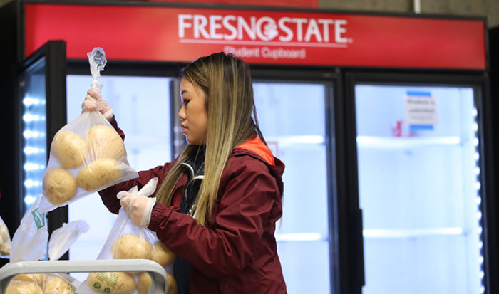 Fresno State's Student Cupboard remains open for students in need of food. (Photo credit: Cary Edmondson, Fresno State)