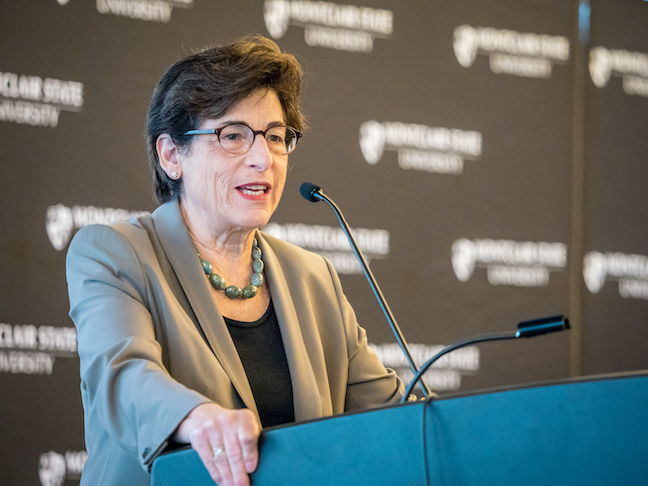 Looking toward reopening her campus in fall 2020 Montclair State University Susan Cole expects to run a leaner institutions with fewer courses and larger class sizes.
