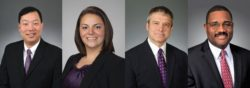 Hyongsoon Kim (left), Molly Whitman, Robert Pees and Anthony Pierce are lawyers in the litigation practice at Akin Gump Strauss Hauer & Feld LLP.