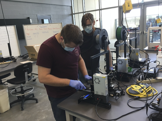 San Jacinto College, a community college near Houston, has reopened classrooms and labs for hands-on subjects such as 3-D printing, welding and health care.