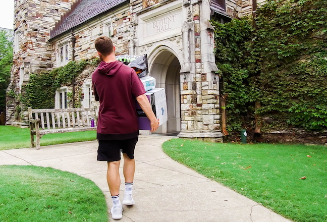 Rhodes College's first-year students have a chance to live on campus, take classes and participate in social activities for three weeks before the fall semester starts.