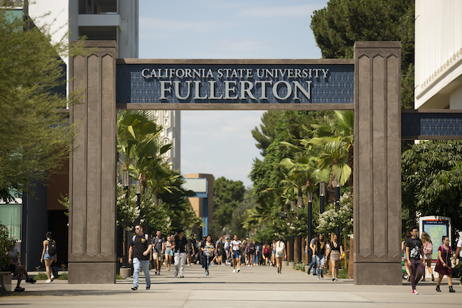 Courses at California State University, Fullerton, and at the state system's 22 other campuses will be delivered mostly online in fall 2020. (Photo: California State University, Fullerton)