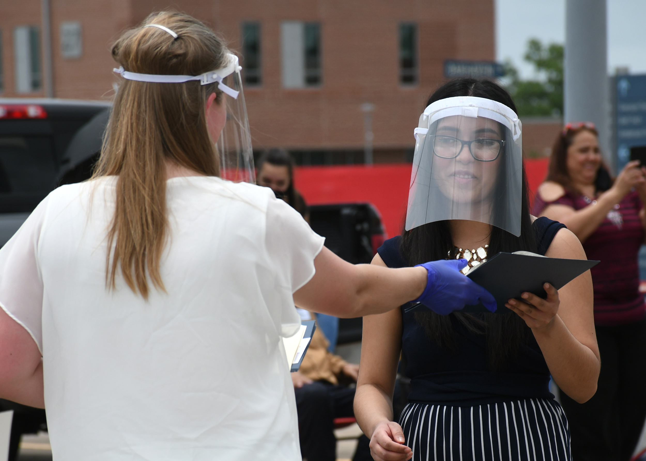 San Jacinto College near Houston recently held a drive-in graduation ceremony for students in its radiography program.