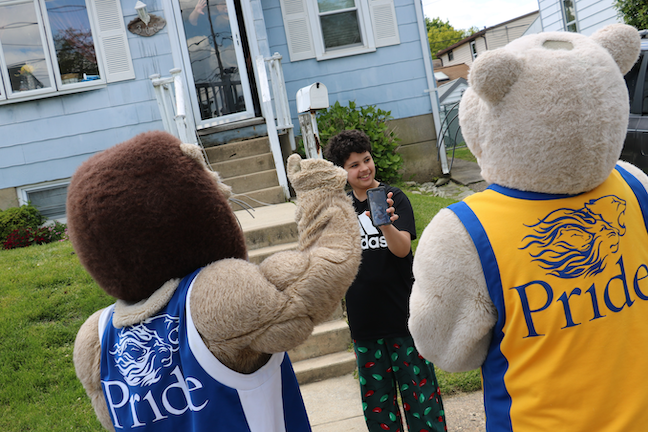 The admissions and enrollment team at Widener University near Philadelphia has bussed its mascots to the homes of about 100 admitted high school seniors who live in the region.