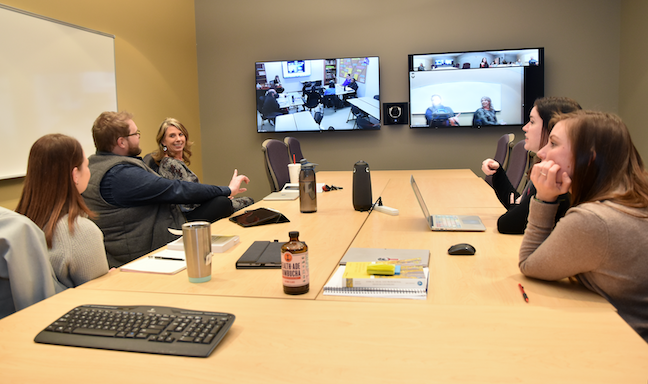Kansas State University-Olathe IT manager, Nate Scherman, recommends that instructors not rely too much on screen shares or PowerPoints when delivering remote instruction.