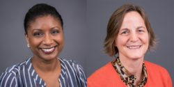 Kelli Rainey is vice president of campus strategy and Nicole Melander is vice president of strategic initiatives at Campus Labs.