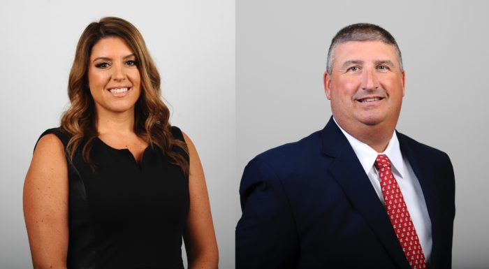 Jessica Mannetti is head coach of the Sacred Heart University women's basketball team in Connecticut. Mark Nofri is head coach of the SHU football.