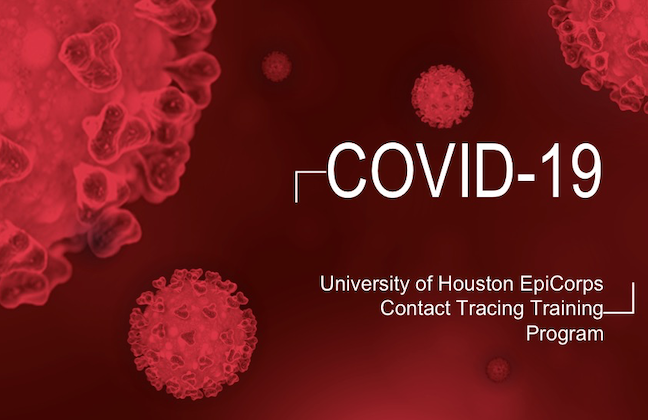 A slide from The University of Houston College of Medicine's free contact tracing and coronavirus case identification certificate program.