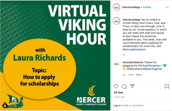 MCCC's new online talk show highlights different areas of the college—from Financial Aid to Student Life and Leadership—to connect with students and provide the information they need for decision-making.