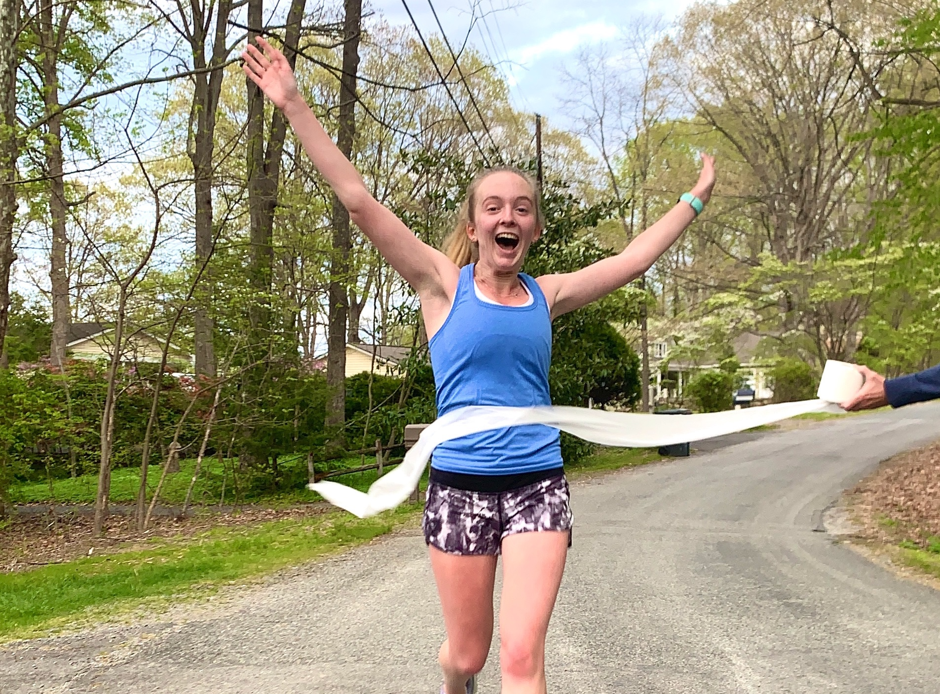 Franklin & Marshall College students ran in their communities during the school's virutal 5K this spring.