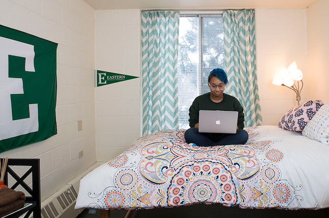 Social distancing means all Eastern Michigan University students can have single rooms in residence halls—along with a credit to reduce the cost.