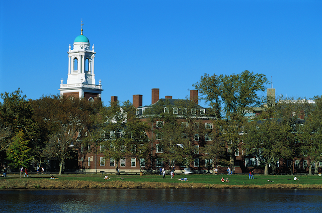 """Harvard University will welcome back all first-year students as well as students """"who need to return to campus to continue to progress academically,"""" the school announced Monday. (GettyImages/ Bill Ross)"""