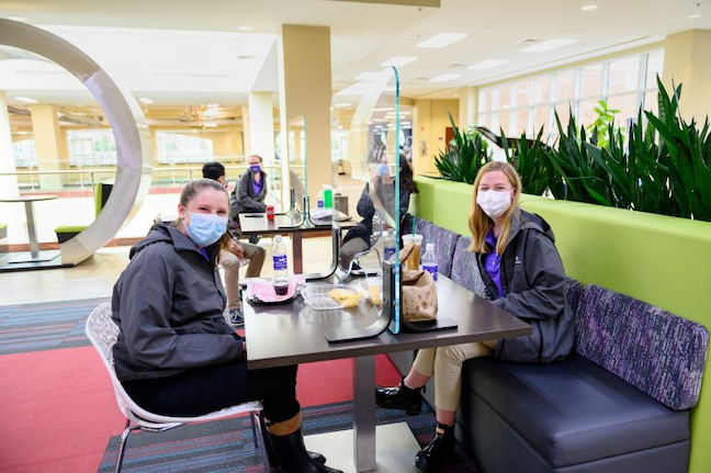 At High Point University in North Carolina, Visual clues will be prominent throughout campus, reminding students to wear masks and social distance. (Photo: High Point University)