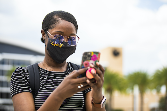 University of Central Florida students will be encouraged to take COVID self-check on the school's UCF Mobile app each time they head to campus this fall.