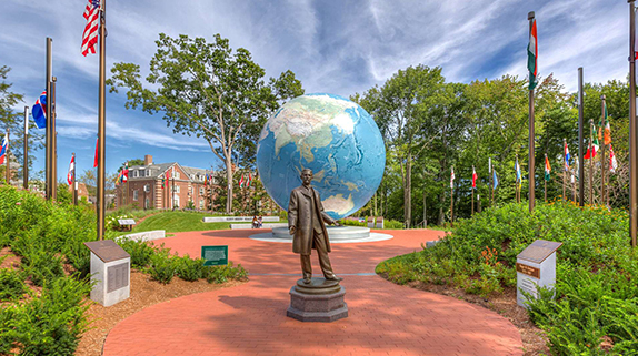 Virtual connections have extended the reach of Babson College's admissions efforts.