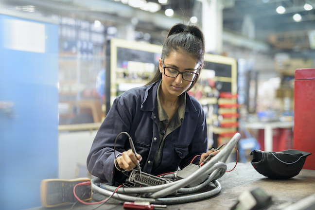 The Community College Growth Engine Fund will invest in six college models that guide students onto career paths that will provide salaries above median-income levels.(GettyImages/Monty Rakusen)