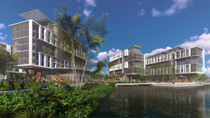 Many colleges and universities have used their investment and focus on sustainable and eco-friendly design as a differentiator. The University of Miami's Centennial Village, the second phase of a multi-year plan to modernize campus housing, will serve as a hallmark of the Coral Gables campus and support efforts to competitively recruit top academic and athletic talent. Image courtesy of Zyscovich and VMDO